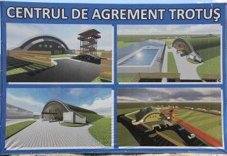Centrul de agrement cu acoperiş verde Trotuş din Comăneşti